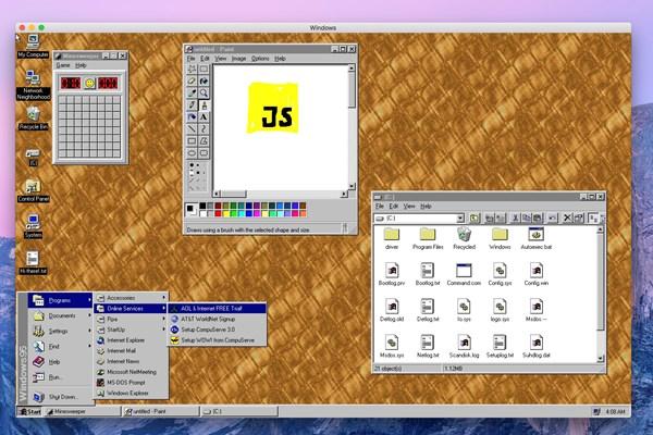 Windows 95 é transformado em app que pode rodar no W10, macOS e Linux